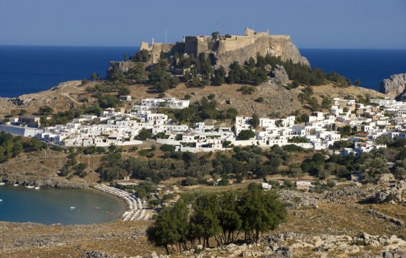 View of Rhodes from a