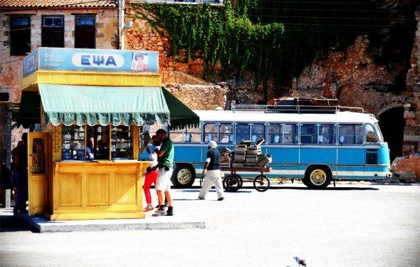 Road side kiosks in Crete are