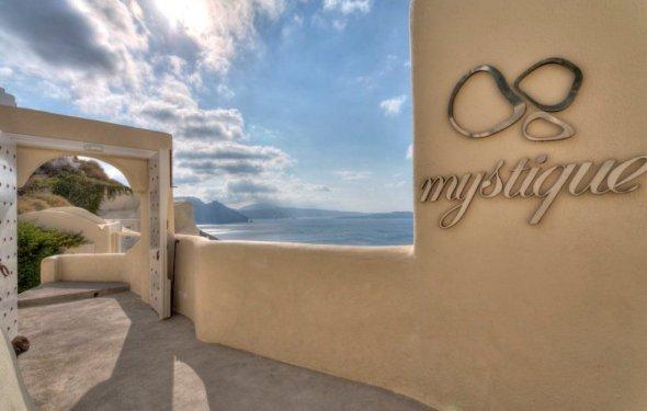Mystique Santorini Logo - A