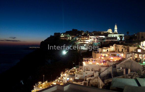 Santorini, Greece at Night