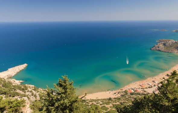 Tsambika beach rhodes