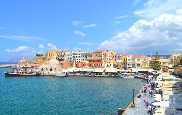 The Venetian Harbor Of Chania