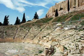 acropolis from theatre dionysus