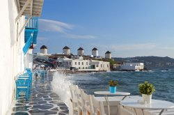 Bars, views and parties in Mykonos