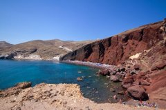 Red Beach on Santorini.