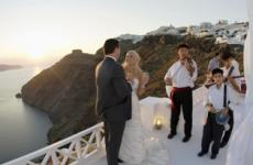 Santorini Sunset Terrace all inclusive wedding package
