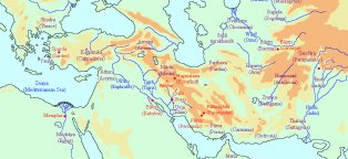 Map of Ancient Greece and Persian