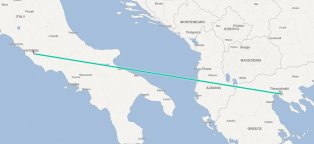 Traveling from Italy to Greece
