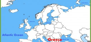 Where is Santorini Greece on the map?