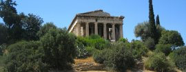 Travel to the ruins of ancient greece
