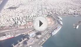 Flying over Pireas (Piraeus), Greece