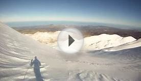 Mt. Idi Psiloritis ski descent ski touring Crete Greece