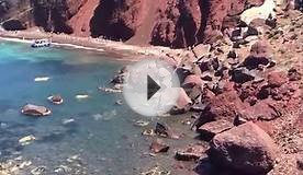 Red Sand Beach @ Caldera, Akrotiri, Santorini, Greece