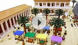 The Ancient Greece build in LEGO