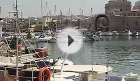 The old Harbour of Heraklion Crete Greece