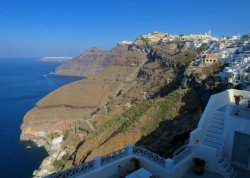 View of Fira and the caldera from Hotel Keti.